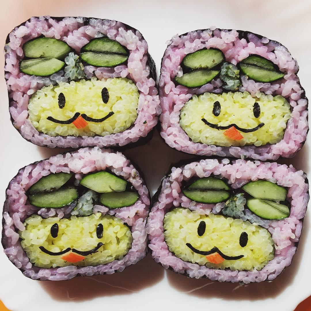 飾り巻き寿司を作ったよ