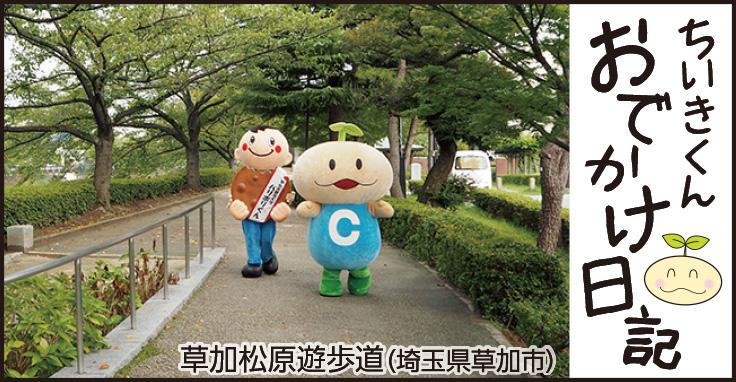 ちいきくんおでかけ日記 草加松原遊歩道