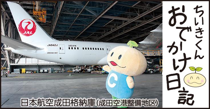 ちいきくんおでかけ日記 日本航空成田格納庫
